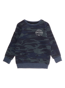 Boys Khaki Camouflage Jumper (3 - 14 years)