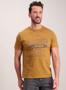 Mustard Coloured 'Vancouver' Slogan T-Shirt