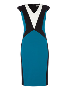 Illusion Colour Block Dress