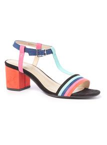 Block T Bar Sandals