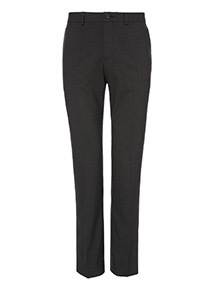 Black Textured Stretch Slim Trouser