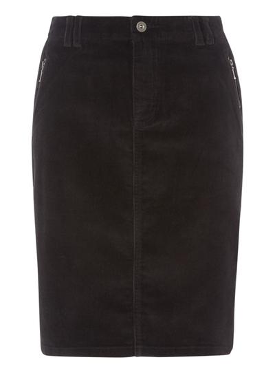 Womens Black Corduroy Pencil Skirt  fa7d3b8e2
