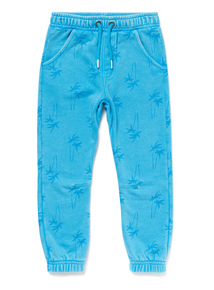 Blue Palm Print Joggers (9 months-6 years)