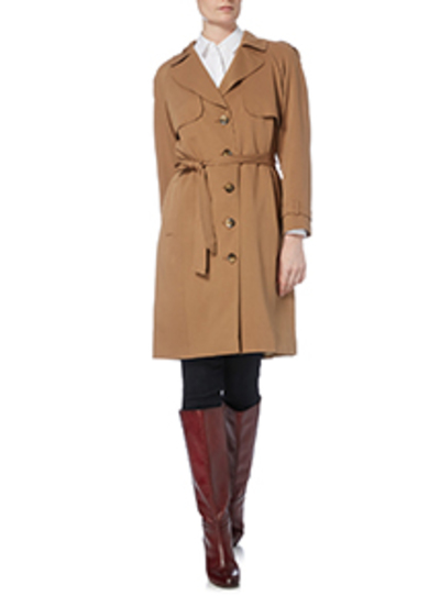 Camel Drapey Trench