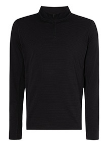 Admiral Black Jacquard Zip Neck Jumper