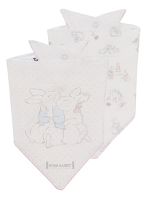 White Peter Rabbit Bibs 2 Pack