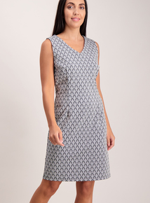 Online Exclusive Monoprint Ponte Shift Dress