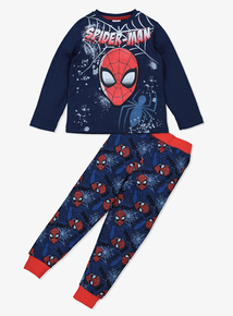 Disney 'Spider-Man' Navy Pyjamas (3-12 years)