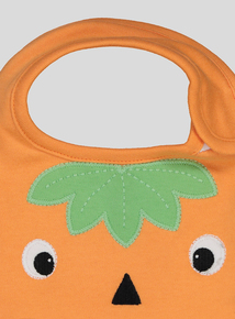 Halloween Pumpkin Bib (one size)