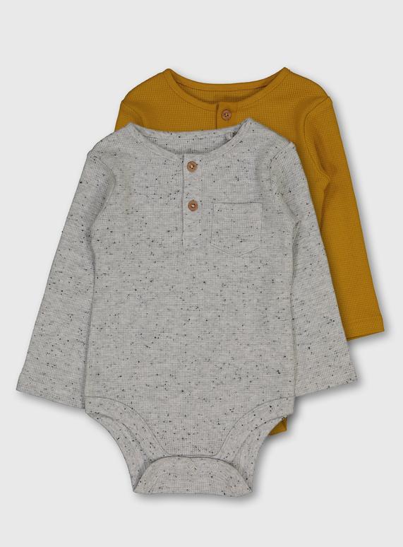 Waffle knit bodysuit set