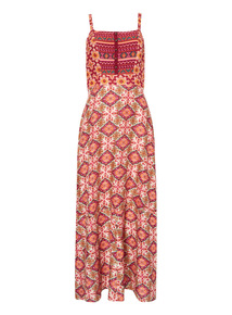Madras Printed Maxi Dress