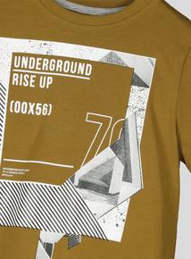 Khaki Graphic Underground T-Shirt (3-14 years)