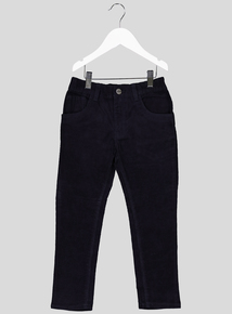 Navy Corduroy Trousers (3-14 Years)