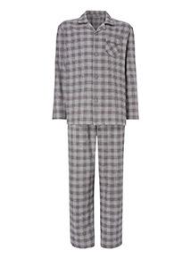 Grey Check Print Traditional Pyjamas