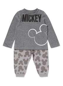 Dark Grey Disney Mickey Top and Leggings Set (0-24 months)