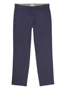 Navy Straight Fit Chinos With Stretch