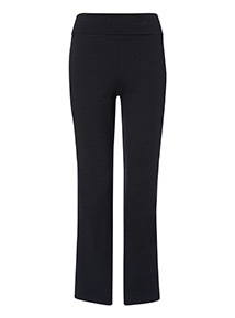PETITE Black Roll Top Joggers