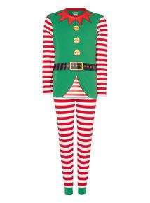 Green Novelty Elf Pyjama Set