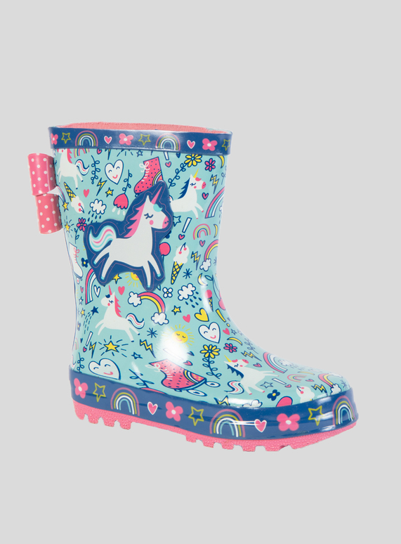 SKU AW18 GIRLS UNICORN WELLY:Multi Coloured