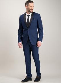 c55c1999c8ac5 Online Exclusive Cobalt Blue Tuxedo Slim Fit Suit Trousers with Stretch