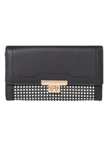Black Grid Pattern Purse
