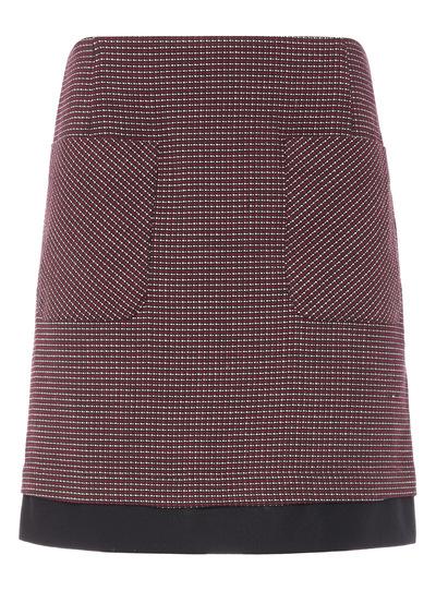 Multicoloured Textured Pocket Skirt