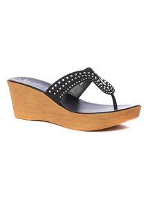 Sole Comfort Bling Wedge Sandals