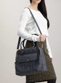 Blue Weave Front Bag