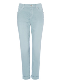 Green Sea Foam Coastal Girlfriend Jeans