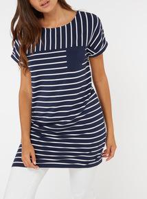 Pocket Detail Striped Tunic
