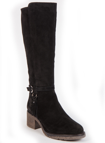 Online Exclusive Sole Comfort Black Suede Knee-High Boots