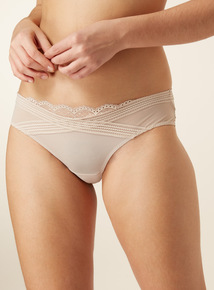 3 Pack Crossover Lace Brazilian Briefs