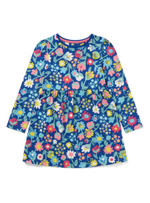 Navy Floral Jersey Dress (9 months-6 years)