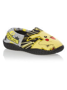 Boys Black Pokemon Slippers