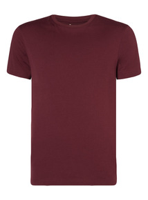 Dark Red Basic Tee
