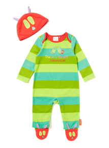 Multicoloured Hungry Caterpillar Sleepsuit with Hat (0-12 months)
