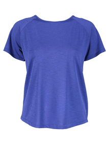 Online Exclusive Cobalt Blue Cross Back Top