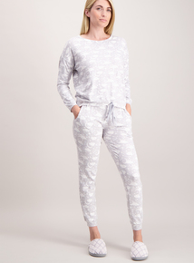 Grey Cloud Print Pyjamas
