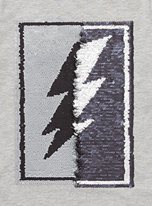 Grey Two Way Sequin Tee (3-14 Years)