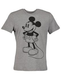 Disney Mickey Mouse Grey Crew Neck T-Shirt