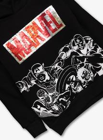 Marvel Reversible Sequin Black Sweatshirt (4 - 14 years)