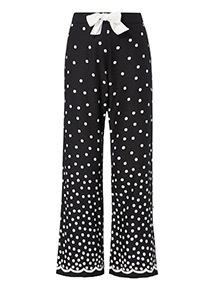 Spot Print Full Leg Pyjama Bottoms