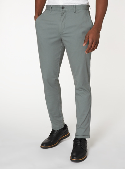 Sage Green Slim Fit Chinos With Stretch