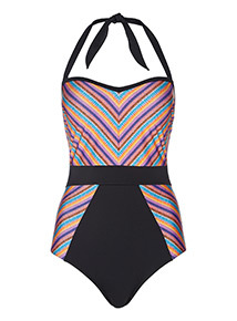 Multicoloured Striped Swimsuit
