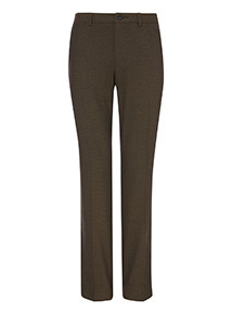 Brown Pindot Stretch Trousers