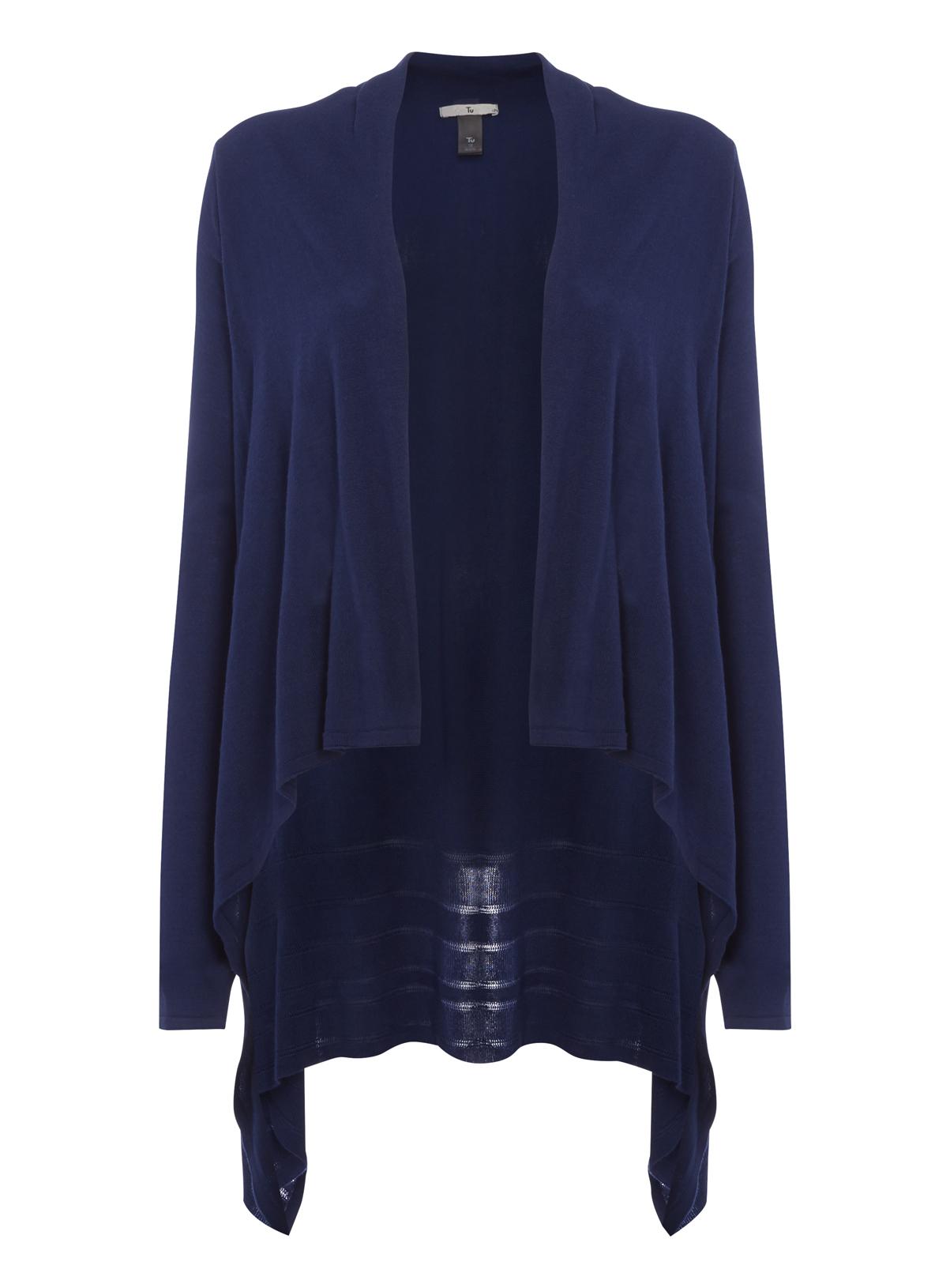 Womens Navy Waterfall Cardigan | Tu clothing