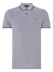 Admiral Grey Tipped Polo Shirt