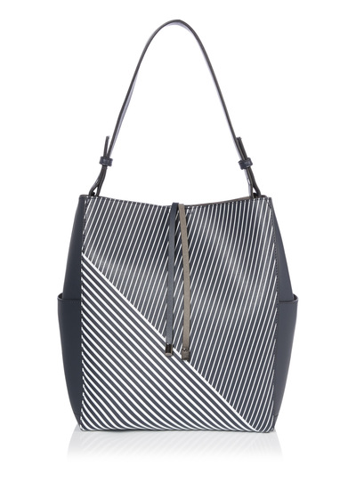 Navy Stripe Shoulder Bag
