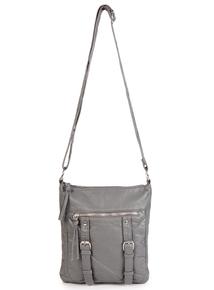 Grey Washed Cross Body Bag