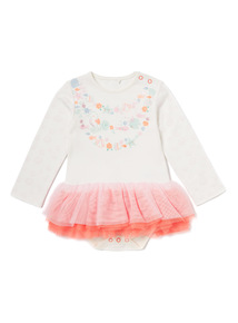 White Sea Friends Tutu Bodysuit (Newborn-24 months)